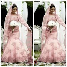 discount elegant pink mermaid african wedding dresses lace