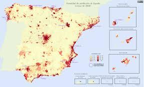 Google Maps Spain by Quantitative Population Density Map Of Spain Lighter Colors