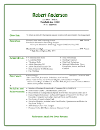 High School Student Resume Objective Template Word Sample  Resume