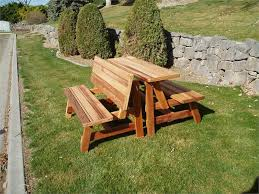 Building Plans For Picnic Table Bench by Beautiful Wood Picnic Table Bench Building Plans For Picnic Table