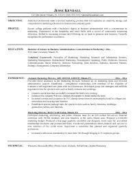 Resume Template  Resume Objective For Marketing Position For Objective With Experience  Resume Objective For