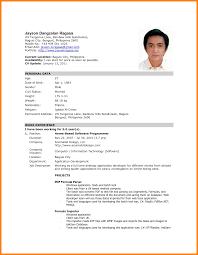basic job resume examples 11 simple job resume philippines resume emails simple job resume