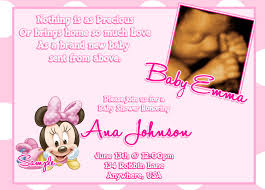 Invitation Cards For Baby Shower Templates Minnie Mouse Baby Shower Invitations Baby Minnie Mouse Baby