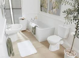 teenage bathroom design rectangle shape built in bathtub four