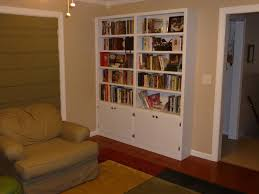 handmade built in bookshelves by carolina woodworking custommade com