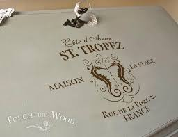 Shabby Chic Stencils by Shabby Chic Stencil St Tropez Vintage French Advert Touch The