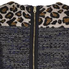 Blue Leopard Print by Little Marc Jacobs Girls Black Dress With Blue And Gold Thread