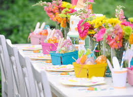 cool easter centerpiece in garden party for children decor express
