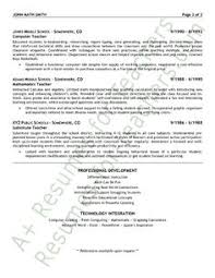 Resume Format For Teachers Job by Physical Education Resume Sample Page 1 Resume Examples