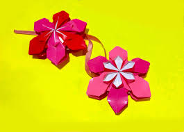 origami flower ornament christmas ornaments diy house decor