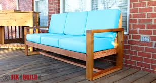 Modern Outdoor Sofa by How To Build A Diy Modern Outdoor Sofa Fixthisbuildthat