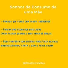 Sonhos de consumo – I |