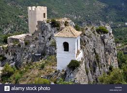 Small Castle by Guadalest Is A Small Village Famous For Its Castle And Bell Tower