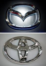 mazda car logo toyota mazda plan 1 6 billion u s plant to partner in electric