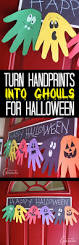 halloween handprint ghoul banner a fun handprint craft