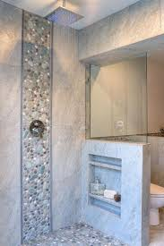 best ideas about shower tile designs pinterest master speckled pebble tile shower ideas bathroom