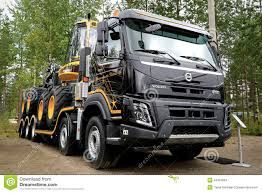 new volvo tractor new volvo fmx truck at finnmetko 2014 editorial stock image
