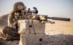 U S  Marine Cpl  Robert Lea  a scout sniper with Weapons Company  Battalion Landing