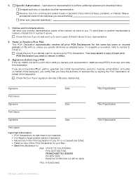 Free Durable Power Of Attorney For Health Care Form by Form 3520 Power Of Attorney