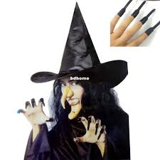 halloween props cheap halloween clothes props witch hat denture finger combination set
