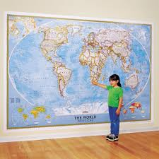 Kids World Map The World For Kids Wall Map National Geographic Store