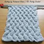 Knitting: ผ้าพันคอลายเกลียวไปเกลียวมา+แพทเทิร์น