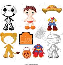 halloween characters clipart royalty free costume stock lion designs