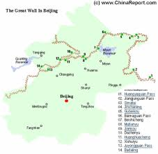 China City Map by Great Wall Of China In Beijing City Province Locations Map By