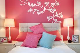 simple bed room wall decoration fujizaki