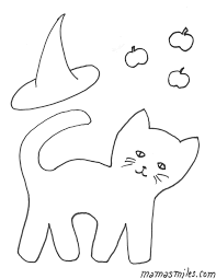 halloween cat coloring pages getcoloringpages com