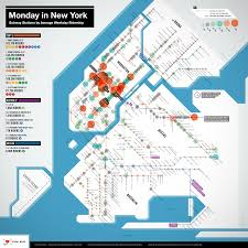 Subway Nyc Map by What Are Mondays Like In New York Very Interesting Map