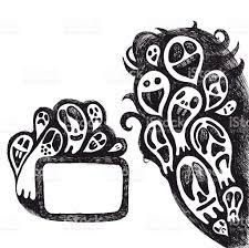 halloween vector art halloween doodle border and frame stock vector art 115676945 istock