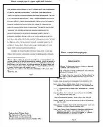 MLA Format Sample Paper  with Cover Page and Outline   MLA Format Typical APA Style Term Paper