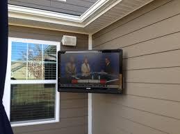 home theater installer outdoor flatscreen tv installation charlotte home theater