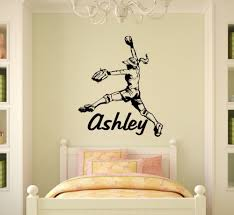 popular softball wall decals buy cheap softball wall decals lots personalized name girl softball pitcher vinyl wall decal wall sticker home decor wall art mural