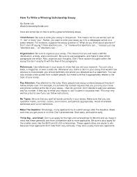 Write A College Scholarship Essay   cover letter examples of a