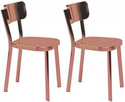 buy carisma copper plated dining chair pair online furntastic