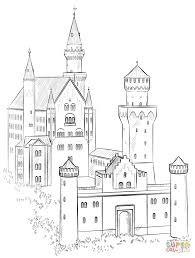 castle coloring page neuschwanstein castle coloring page free