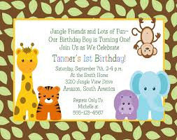 1st Birthday Decoration Ideas At Home Jungle Animals 1st Birthday Invitation Baby By Traditionsbydonna