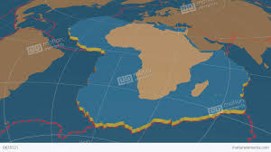 Tectonic Plate Map African Tectonic Plate Solids Stock Animation 6635121