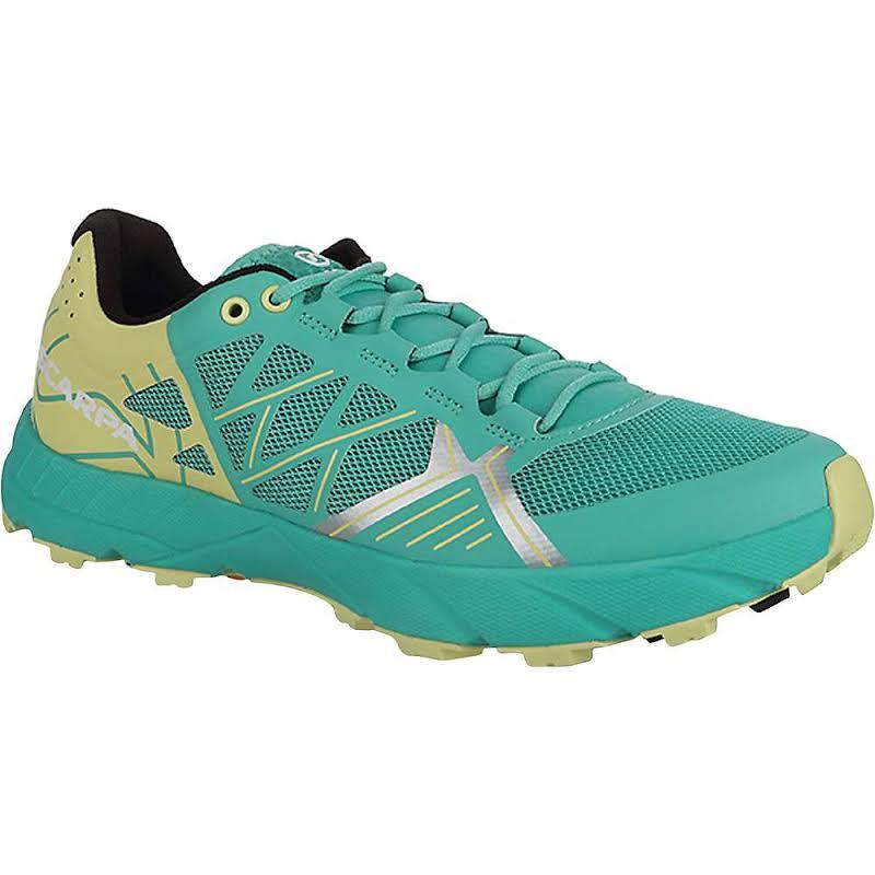 Scarpa Spin Trail Running Shoes Waterfall/Light Lime Medium 40 33060/352-WfalLtlim-40