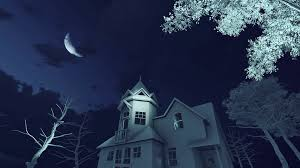 scary moon background blue dark scary related