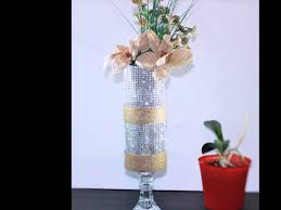 Flowers Home Decoration Shabby Chic Vintage Modern Glass Candle Holder Burlap Flower Home