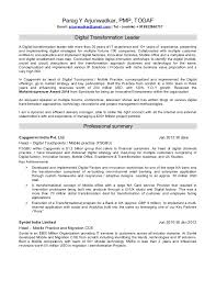 Resume Headline Examples by Resume Of A Digital Transformation Leader