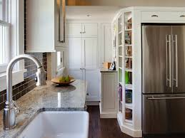L Shaped Small Kitchen Designs Small Kitchen Design Ideas With Nice Stainless Fridge And Sink