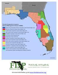 Map Florida Gulf Coast by Florida Cismas Florida Invasive Species Partnership