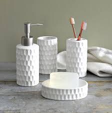 White Bathroom Accessories Set by White Honeycomb Bath Accessories White Ceramic Bathroom