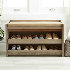 Rustic Wooden Bench With Storage Storage Bench Rustic Driftwood Mercer Storage Bench The
