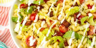 Pasta Salad Ingredients Best Blt Pasta Salad Recipe Blt Pasta Salad