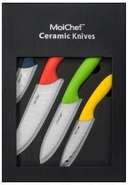 amazon com moichef 8 piece premium ceramic knife set 4 color
